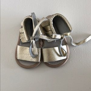 Other - Gold Leather Sandals